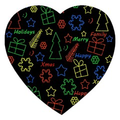Playful Xmas Pattern Jigsaw Puzzle (heart) by Valentinaart