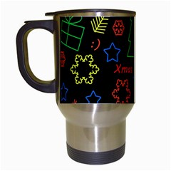 Playful Xmas Pattern Travel Mugs (white)