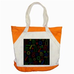 Playful Xmas Pattern Accent Tote Bag by Valentinaart