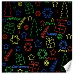 Playful Xmas Pattern Canvas 16  X 16   by Valentinaart