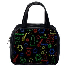 Playful Xmas Pattern Classic Handbags (one Side) by Valentinaart