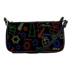 Playful Xmas Pattern Shoulder Clutch Bags by Valentinaart