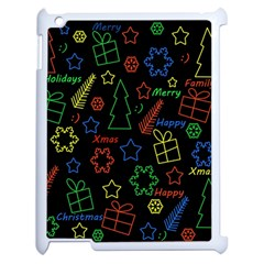 Playful Xmas Pattern Apple Ipad 2 Case (white) by Valentinaart