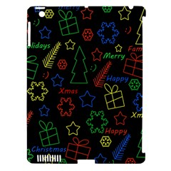 Playful Xmas Pattern Apple Ipad 3/4 Hardshell Case (compatible With Smart Cover) by Valentinaart