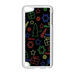 Playful Xmas Pattern Apple Ipod Touch 5 Case (white) by Valentinaart