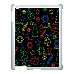 Playful Xmas Pattern Apple Ipad 3/4 Case (white) by Valentinaart