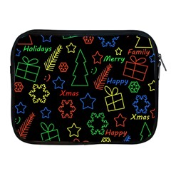 Playful Xmas Pattern Apple Ipad 2/3/4 Zipper Cases by Valentinaart