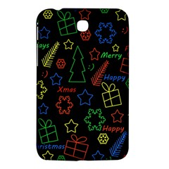 Playful Xmas Pattern Samsung Galaxy Tab 3 (7 ) P3200 Hardshell Case  by Valentinaart