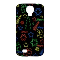 Playful Xmas Pattern Samsung Galaxy S4 Classic Hardshell Case (pc+silicone) by Valentinaart