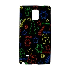Playful Xmas Pattern Samsung Galaxy Note 4 Hardshell Case by Valentinaart