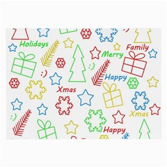 Simple Christmas Pattern Large Glasses Cloth (2-side) by Valentinaart