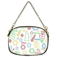 Simple Christmas Pattern Chain Purses (one Side)  by Valentinaart