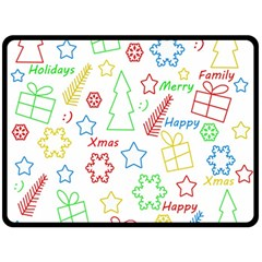 Simple Christmas Pattern Fleece Blanket (large)  by Valentinaart