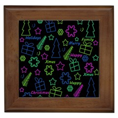 Decorative Xmas Pattern Framed Tiles by Valentinaart