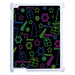 Decorative Xmas Pattern Apple Ipad 2 Case (white) by Valentinaart