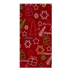 Red Xmas Pattern Shower Curtain 36  X 72  (stall)