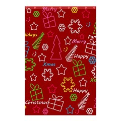 Red Xmas Pattern Shower Curtain 48  X 72  (small)