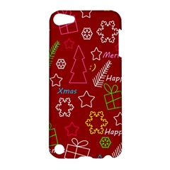 Red Xmas Pattern Apple Ipod Touch 5 Hardshell Case by Valentinaart