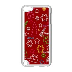 Red Xmas Pattern Apple Ipod Touch 5 Case (white) by Valentinaart