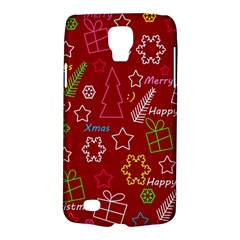 Red Xmas Pattern Galaxy S4 Active by Valentinaart
