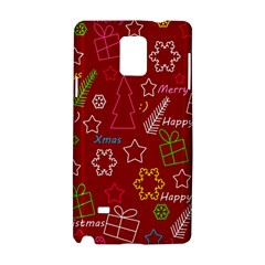 Red Xmas Pattern Samsung Galaxy Note 4 Hardshell Case by Valentinaart