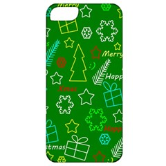 Green Xmas Pattern Apple Iphone 5 Classic Hardshell Case