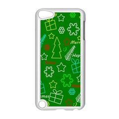 Green Xmas Pattern Apple Ipod Touch 5 Case (white) by Valentinaart