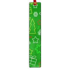 Green Xmas Pattern Large Book Marks by Valentinaart