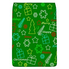 Green Xmas Pattern Flap Covers (l)  by Valentinaart