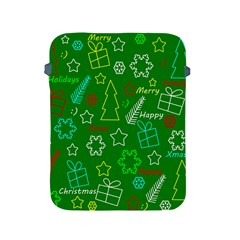 Green Xmas Pattern Apple Ipad 2/3/4 Protective Soft Cases by Valentinaart