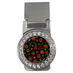 Red And Green Xmas Pattern Money Clips (cz)  by Valentinaart