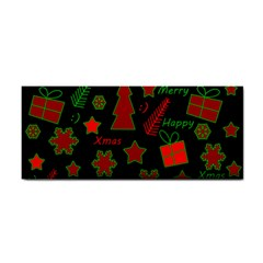 Red And Green Xmas Pattern Cosmetic Storage Cases by Valentinaart