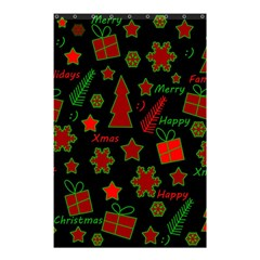 Red And Green Xmas Pattern Shower Curtain 48  X 72  (small)  by Valentinaart