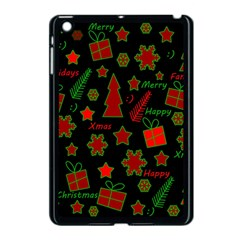 Red And Green Xmas Pattern Apple Ipad Mini Case (black) by Valentinaart