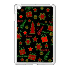 Red And Green Xmas Pattern Apple Ipad Mini Case (white) by Valentinaart