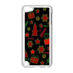 Red And Green Xmas Pattern Apple Ipod Touch 5 Case (white) by Valentinaart