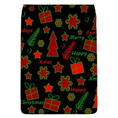 Red And Green Xmas Pattern Flap Covers (s)  by Valentinaart