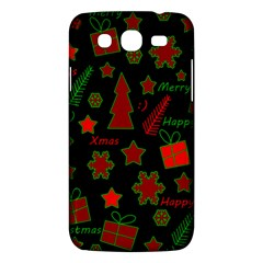 Red And Green Xmas Pattern Samsung Galaxy Mega 5 8 I9152 Hardshell Case  by Valentinaart