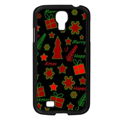 Red And Green Xmas Pattern Samsung Galaxy S4 I9500/ I9505 Case (black) by Valentinaart