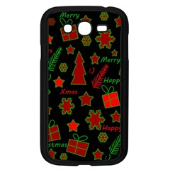 Red And Green Xmas Pattern Samsung Galaxy Grand Duos I9082 Case (black) by Valentinaart
