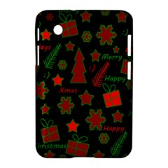 Red And Green Xmas Pattern Samsung Galaxy Tab 2 (7 ) P3100 Hardshell Case  by Valentinaart