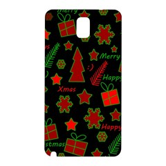 Red And Green Xmas Pattern Samsung Galaxy Note 3 N9005 Hardshell Back Case by Valentinaart