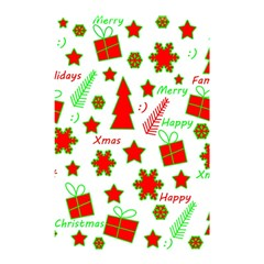 Red And Green Christmas Pattern Shower Curtain 48  X 72  (small)