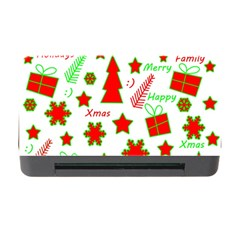 Red And Green Christmas Pattern Memory Card Reader With Cf by Valentinaart