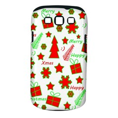 Red And Green Christmas Pattern Samsung Galaxy S Iii Classic Hardshell Case (pc+silicone) by Valentinaart