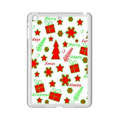 Red And Green Christmas Pattern Ipad Mini 2 Enamel Coated Cases by Valentinaart
