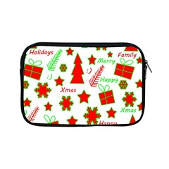 Red And Green Christmas Pattern Apple Ipad Mini Zipper Cases by Valentinaart