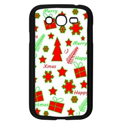 Red And Green Christmas Pattern Samsung Galaxy Grand Duos I9082 Case (black) by Valentinaart