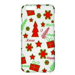 Red And Green Christmas Pattern Apple Iphone 6 Plus/6s Plus Hardshell Case by Valentinaart
