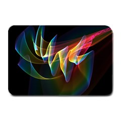 Northern Lights, Abstract Rainbow Aurora Plate Mats by DianeClancy